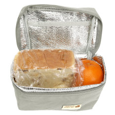 Portable Waterproof Thermal Insulated Lunch Bag Travel Picnic Tote Storager Box Grey By Channy.