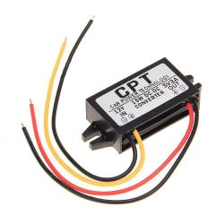 Power Supply Car Volt DC-DC Converters Module Regulator (Black)
