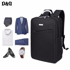 Kaka-Original Prince Travel Mens 15 Notebook Laptop Oxford Fabric Backpack Business&leisure Double Shoulders Bag (black) Lp-00 By D&d.