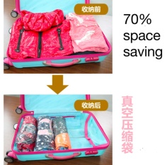 Promo 10pcs Travel Organizers Handroll Vacuum Compression Storage Bags Intl