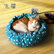 Pet Supplies Cat Nest Pumpkin Wo Dian Dual Purpose Kennel Small Pet Nest Pull-Belt Contraction Warm By Taobao Collection.