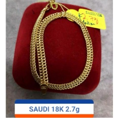Pure Saudi Gold 18k Bracelets 2.7g L-7.5 By 7nj Store.