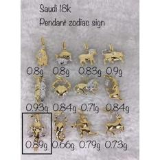 Pure Saudi Gold 18k Zodiac Sign Pendant Libra ( Christhas Collection Online Boutique Shoppe) By Christhas Collection Online Boutique.