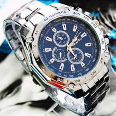 c018c86f56 QF ORLANDO Stainless steel Waterproof Quartz Luxury Men Wrist Watch(BLUE)