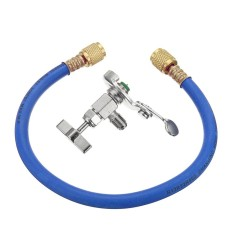R12 R22 Can Tap Tapper Refrigerant Recharge Hose Kit (idq 461) (blue) - Intl By Autoleader.