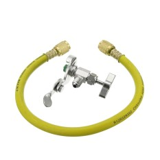 R12 R22 Can Tap Tapper Refrigerant Recharge Hose Kit (idq 461) (yellow) - Intl By Channy