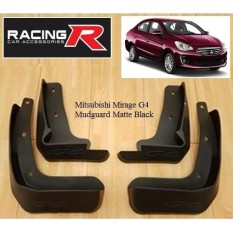 Mitsubishi Mirage G4 2016 To 2018 Mudguard Matte Black (mud Flaps Splash Guards) With Screw By Racing R Car Accessories.