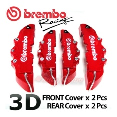 Red 4pcs/set Abs Universal Disc Brake Caliper Covers Front & Rear - Intl By Echosns Store.
