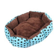 Removable Cushion House Bed For Pets Dog Cat S Blue, Black Dots - Intl By Lapurer.