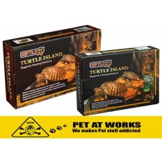 Reptile Pro Turtle Island Magnetic Floating Platform (small) For Turtles, Terrapins, Frogs And Other Amphibians By Pet At Works.