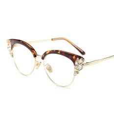 40c76f5428 Rhinestone Cat Eye Glasses Frames for Women Brand Designers 2018 Luxury  Sexy Eyeglasses Cat Eye Black