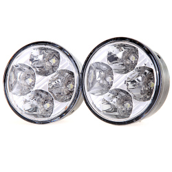 Round LED Daytime Running Light 4 LED (White).
