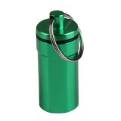 S & F Aluminum Outdoor First Aid Gallipot Convenient Cartridge Keychain Green - Intl