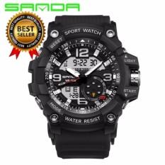 82f2fb97ea7 SANDA Brand Men Quartz Digital LED Watch Sports S-Shock Waterproof  Wristwatch - intl