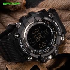 SANDA New Watch Men Rock Climbing Sports Wrist Watches Big Dial Military Watches G Alarm Shockproof