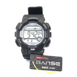 Sanse Uni-sex Watch TPU resin Strap-622 Black