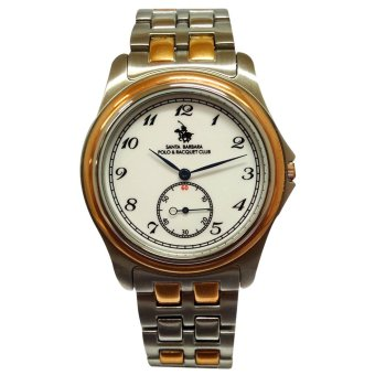 Santa Barbara Polo & Racquet Club Men's Two Tone Stainless Steel Watch