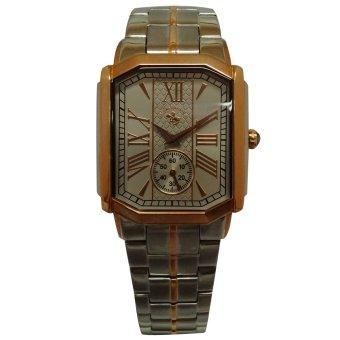 Santa Barbara Polo & Racquet Club Men's Two Tone Stainless Steel Watch