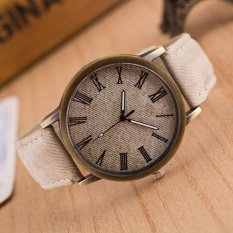 Watches Retro Women Men Casual Roman Numeral Dial Denim Fabric Analog Quartz Wrist Watch Buy One Give One