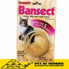 Sergeants Bansect Tick And Flea Cat Collar For Cat Collar By Pet At Works.