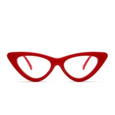 3f6b28465a3e Sexy Red Cat Eye Glasses Frames for Women 2018 Retro White Black Small  Cheap Eyewear Frames