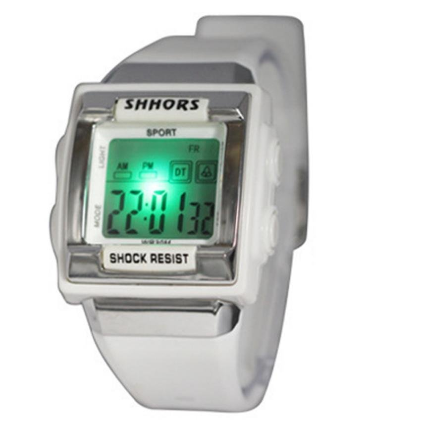 SHHORS Candy Sport Women Plastic Strap Watch (White)