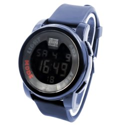 Shhors Johnroy Sports Men Navy Blue Rubber Strap Watch MODE001