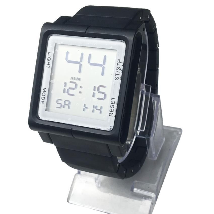 SHHORS  Sport Men Plastic Strap Watch (Black)