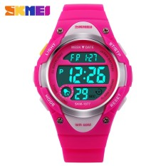 PHP 646. SKMEI 077 Children Watches Cute Kids Watches Sports Cartoon Watch for Girls boys Rubber Children's Digital LED ...