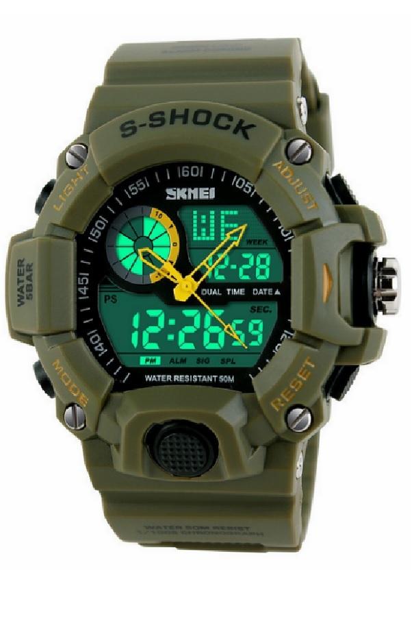 SKMEI 1029 Sport Digital Watches Army Green
