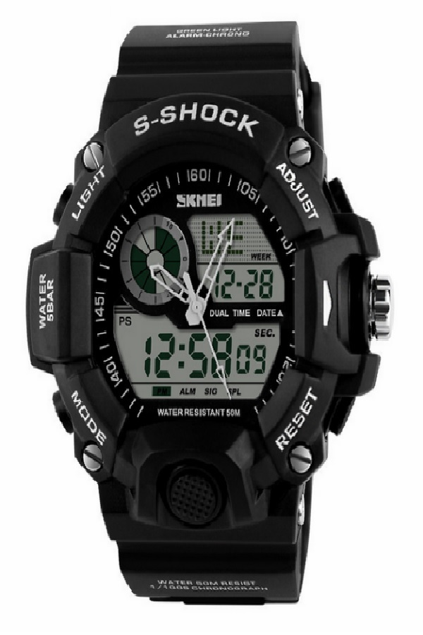 SKMEI 1029 Tactical Military Watch Black