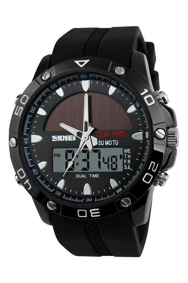 SKMEI 1064 Solar Power Digital Waterproof  Watch (Black)