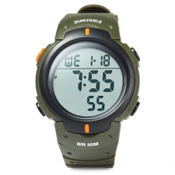 Skmei 1068 Military Army LED Watch Water Resistant (Army Green) (Intl)