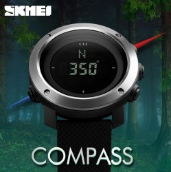 SKMEI Digital Watches Men Compass Shock Resistant Chrono Date Alarm Stop Watch Outdoor Sports Military Calendar LED Display Wristwatch 1293