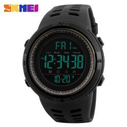 SKMEI Discount 30% Off 1251 Men Outdoor Watches Countdown Double Time Watch Alarm Digital 50M Waterproof Wristwatches