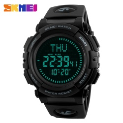 SKMEI Military Sport Watch Men Top Brand Luxury Compass Electronic LED Digital Wrist Watch For Men Male Clock Relogio Masculino - intl