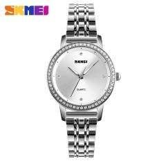 PHP 547. SKMEI New Fashion Women Watches Rose Gold (silver) Stainless Steel Bracelet Watch Ladies Quartz Wristwatches Waterproof ...
