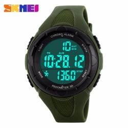 SKMEI Pedometer Women Digital Wristwatches LED Health Sports Watches Waterproof Girls For Gift Alarm Chrono Calendar Watch - intl