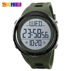 SKMEI Sports Watch Men Big Dial Outdoor Waterproof Watches Shock Resistant Digital Wristwatch Countdown Clock - intl