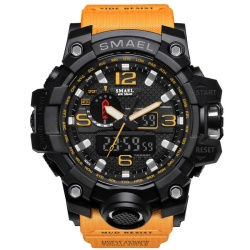 SMAEL Brand Watch 1545 men sports watches dual display analog digital LED Electronic quartz watches 50M waterproof swimming watch - intl