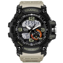 SMAEL Brand Watch Men Sports Watches Dual Display Analog Digital LED Electronic Quartz Watch Waterproof Swimming Military Watches - intl