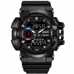 Smael Fashion Casual Quartz Watches Dual Display digital Men watches outdoor sport High quality Brand Men military 50m waterproof LED Watch relogio masculino - intl