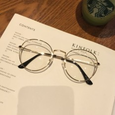 Forest Small House Celebrity Style Students Soft Girl Plain Glasses Compatible Nearsighted Glasses Explicit Face Small Glasses Framework Men And Women Korean Style Fashion By Taobao Collection.