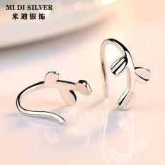 Originality 925 Silver Earrings Cool Small Leaves Earrings Simple Ear Hook Earrings women Allergy Friendly Earring