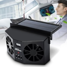 【free Shipping + Flash Deal】solar Power Car Auto Vehicle Front /rear Window Air Vent Exhaust Fan Ventilation - Intl By Elec Mall.