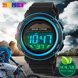 Solar Power Sports Watches Men Shock Digital Watch Chrono 50M Water Resistant Wristwatches 1096 Ready Stock