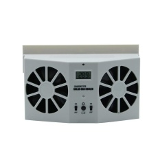 Solar Powered Radiator Cool Fan For Car Vehicle Air Vent New Arrival Accessory - Intl By Brisky.