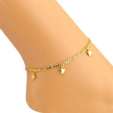 Solid Heart Women Ankle Bracelet Barefoot Sandal Beach Foot Jewelry - intl