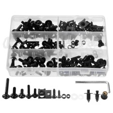 Sportbikes Motorcycle Fairing Bolts Kit Fastener Clips Screws 6 Colors Optional (black) - Intl By Channy.
