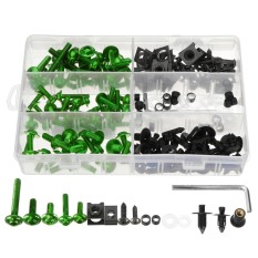 Sportbikes Motorcycle Fairing Bolts Kit Fastener Clips Screws 6 Colors Optional (green) - Intl By Channy.